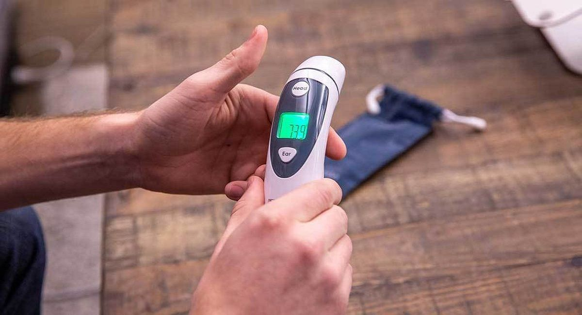 how to operate non contact infrared thermometer
