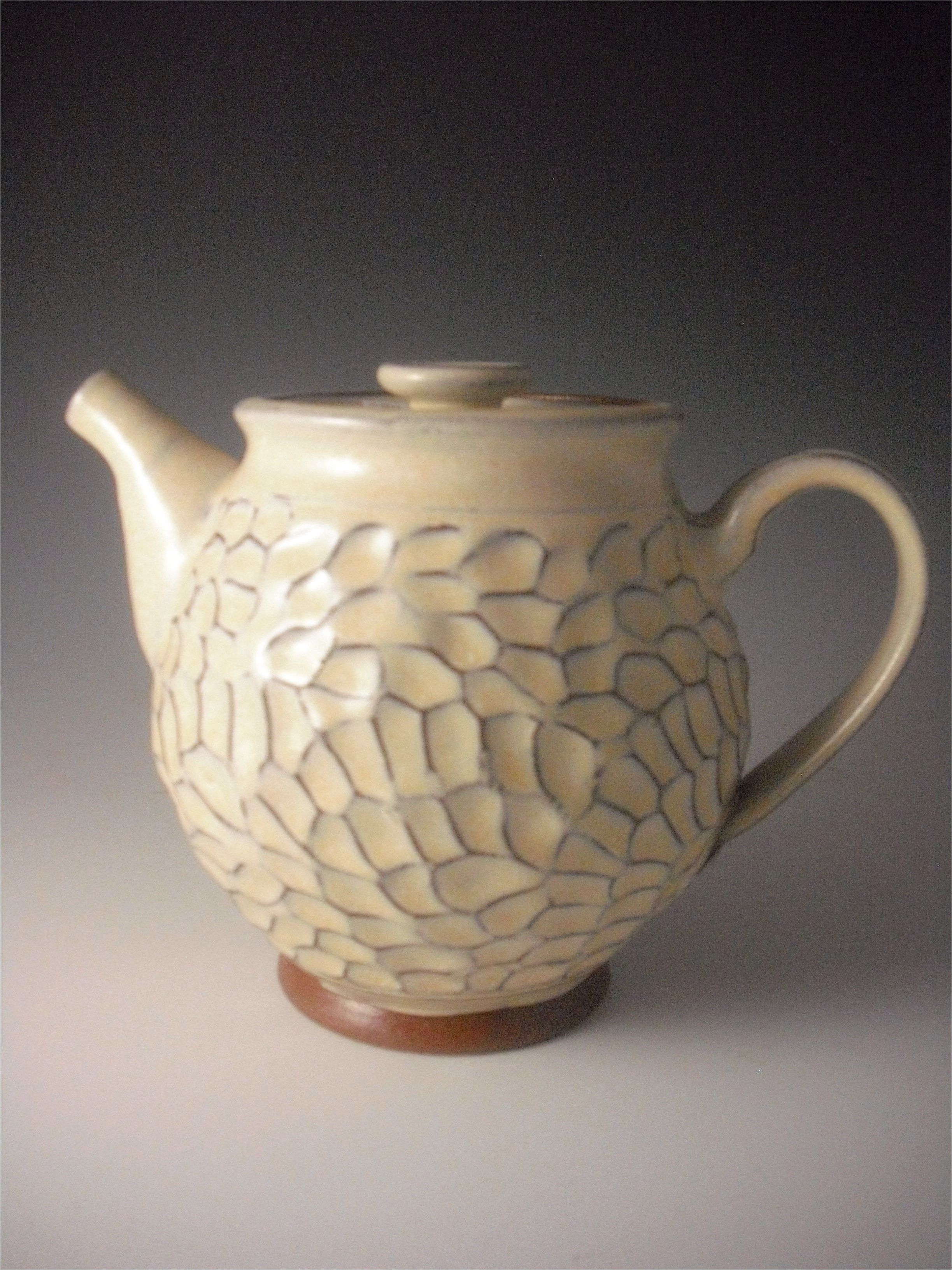Hand thrown earthenware tea pot #CeramicDesign - Click the image to continue reading... #teapotset