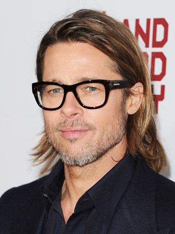 9c32e184b3   Pitt Stop   Brad Pitt almost looks cerebral wearing his heavy
