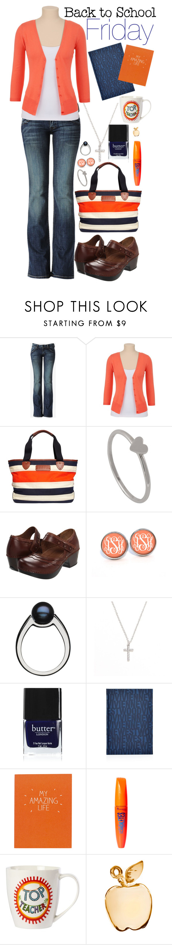 Back to School: Friday #2 by namelessfashionista on Polyvore featuring Hudson Jeans, Dansko, Brooks Brothers, With Love From CA, Altruette, Links of London, Rimmel, Butter London, Vivienne Westwood and Wild & Wolf