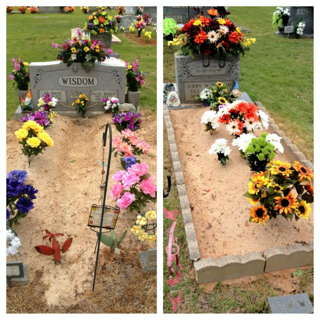 Pin by Nikki Kerr on Summer 6  Cemetery decorations, Grave