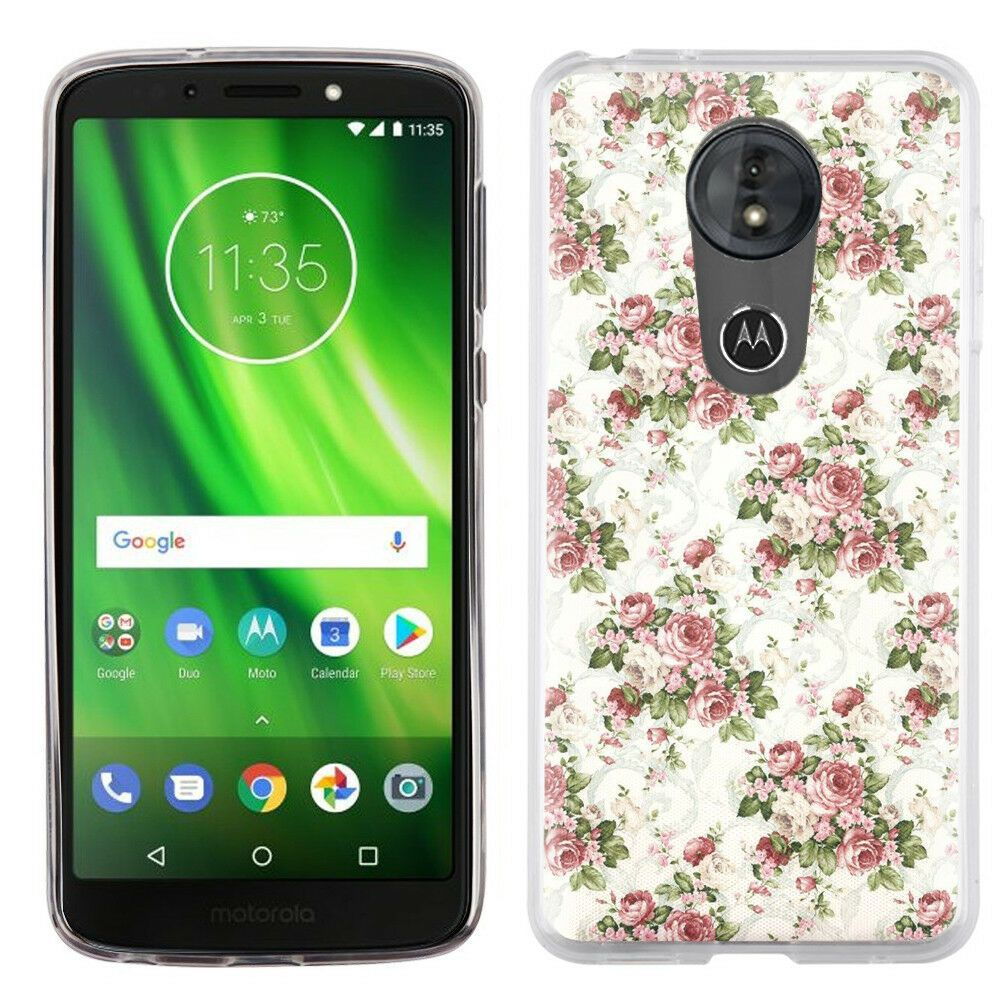 Tpu Phone Case For Motorola Moto G6 Play G6 Forge Floral Rose Fundas Para Telefono Fundas Y Tecnologia