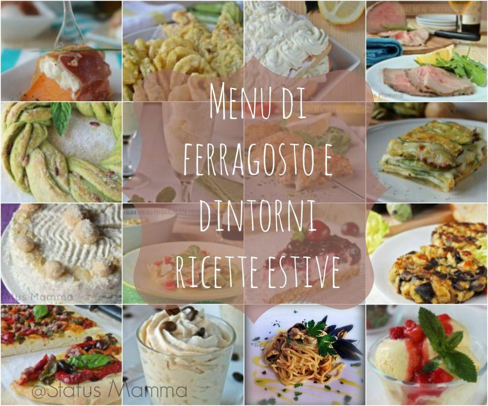 menu di ferragosto e dintorni ricette estive
