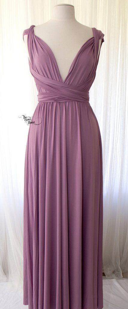 Mauve Infinity Gown | Wedding | Pinterest | Mauve, Infinity and Gowns
