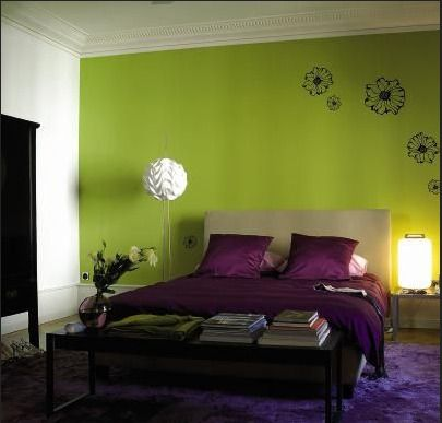 Lime Green And Purple Bedroom Purple Carpet Pink Green Wall