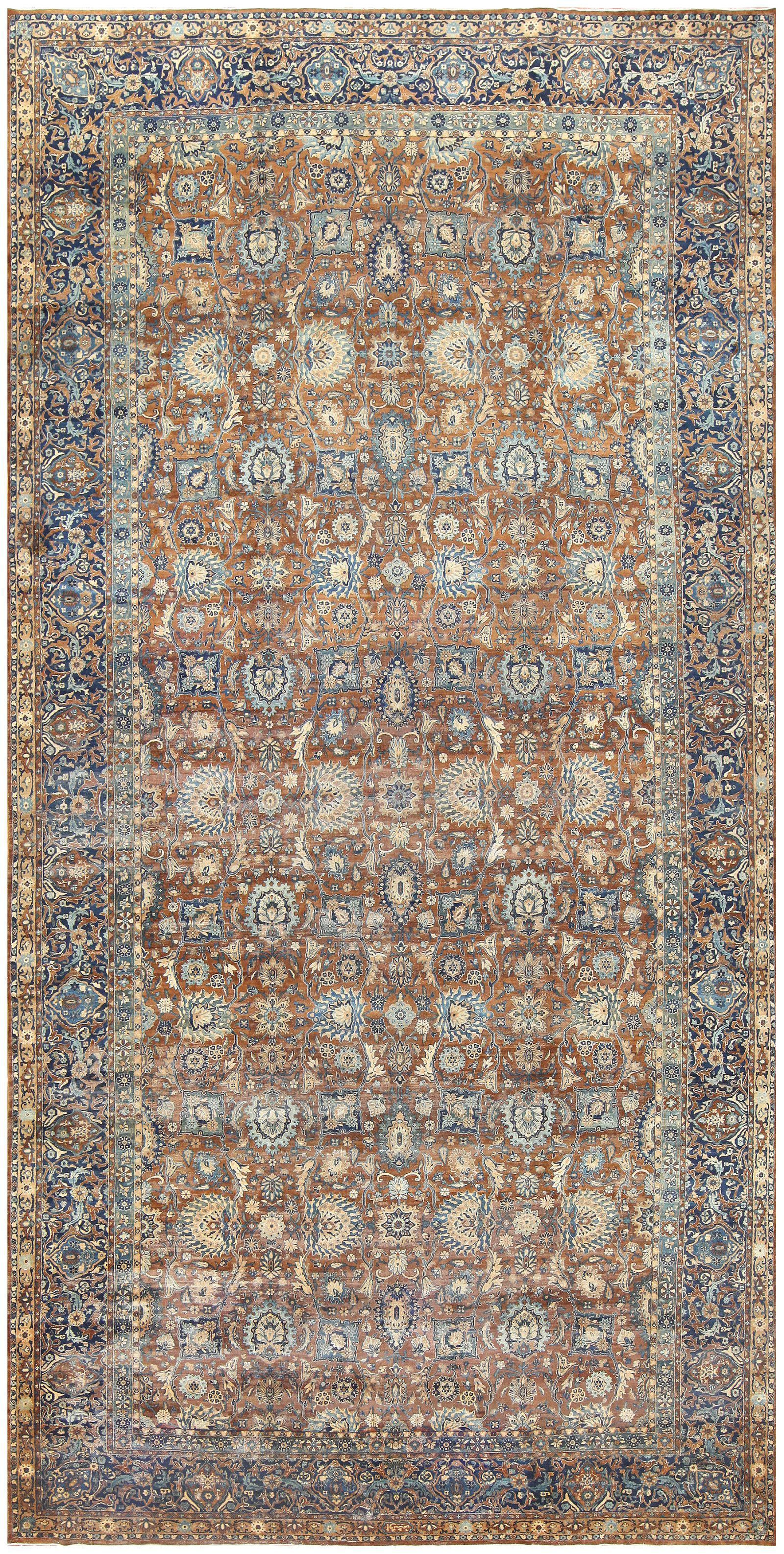 Click Here To View This Lovely Antique Persian Kerman Carpet Which Is Curly Available For