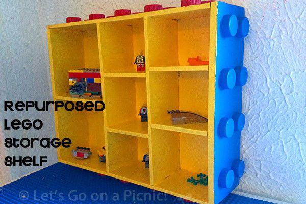 Repurposed Lego Storage Shelf