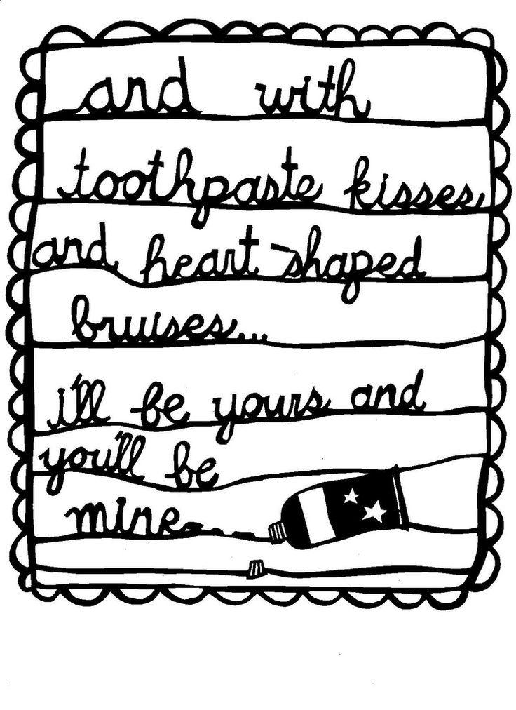 Lyric sex conversation lyrics : The Maccabees - Toothpaste Kisses | Let's Get Lyrical | Pinterest ...