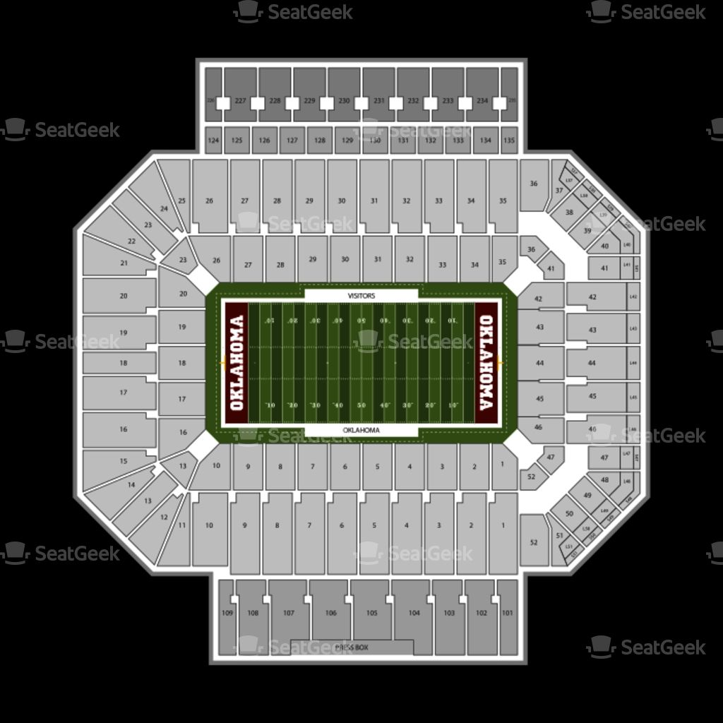 Elegant Ou Football Seating Chart In 2020 Seating Charts Ou Football Chart