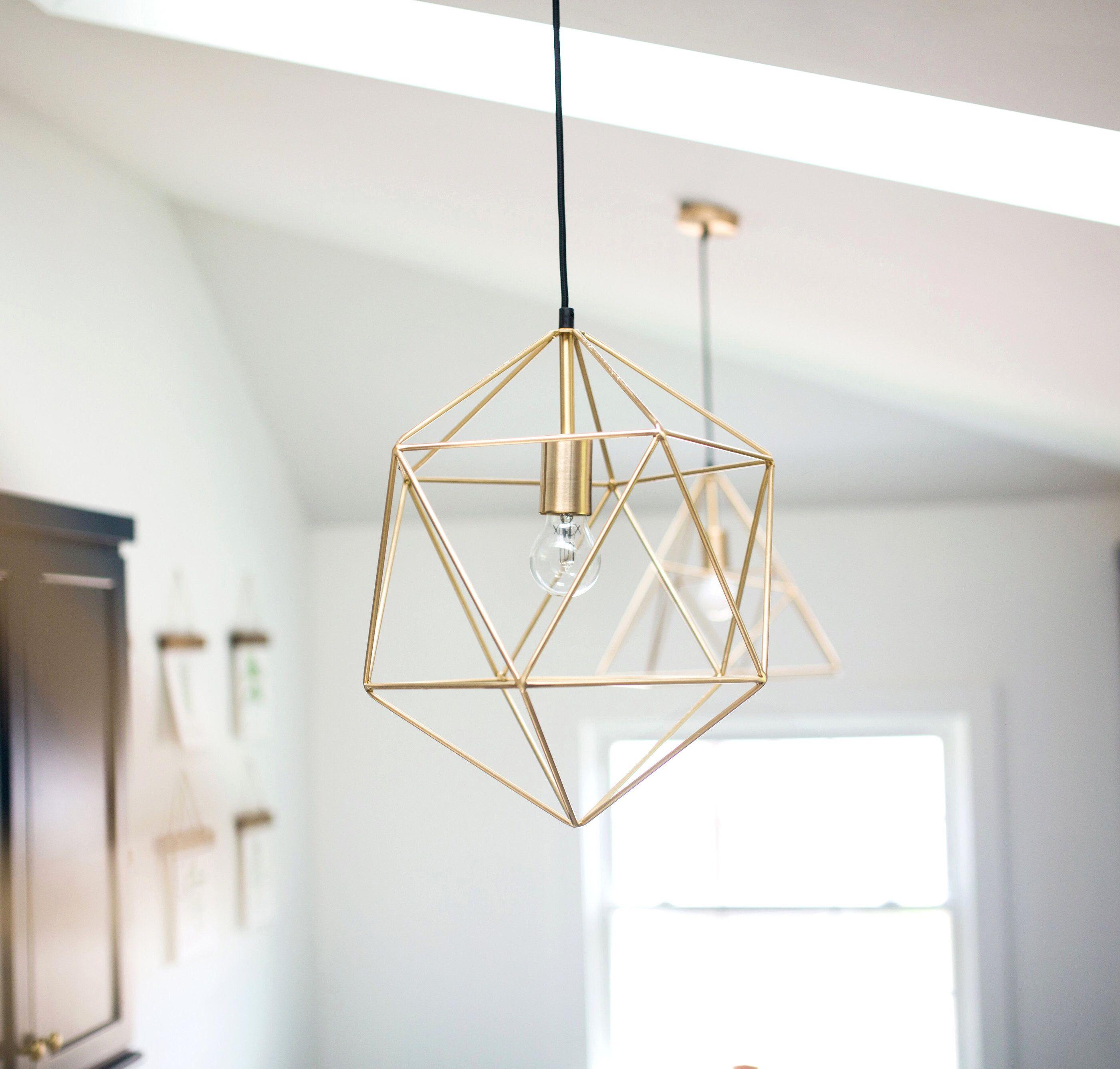 Gold Pendant Light Minimal Chandelier Lighting Geometric Etsy Gold Pendant Lighting Geometric Pendant Light Gold Geometric Pendant Light