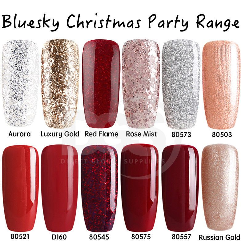 Bluesky CHRISTMAS PARTY RANGE UV/LED Gel Nail Soak Off Polish ...