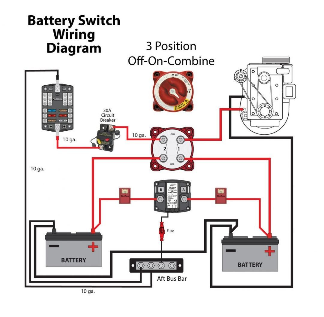 Marine Battery Switch Wiring Diagram Elegant Battery Selector Switch Boat Wiring Wire Dual Battery Setup