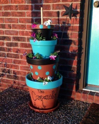 Diy Stacked Herb Garden: Best 25+ Stacked Pots Ideas On Pinterest