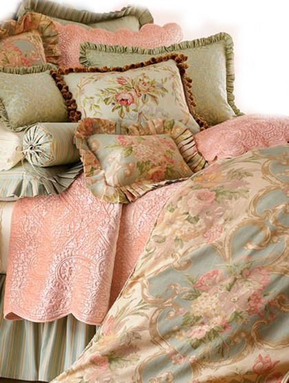 Decorate With Soft Blush Tones French Country Bedding Country