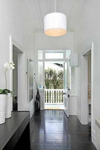 White Walls Dark Floorboards Gray Hardwood FloorsWood