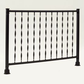 Best Windsor Plus 72 In X 28 In Black Steel Porch Railing 10 400 x 300