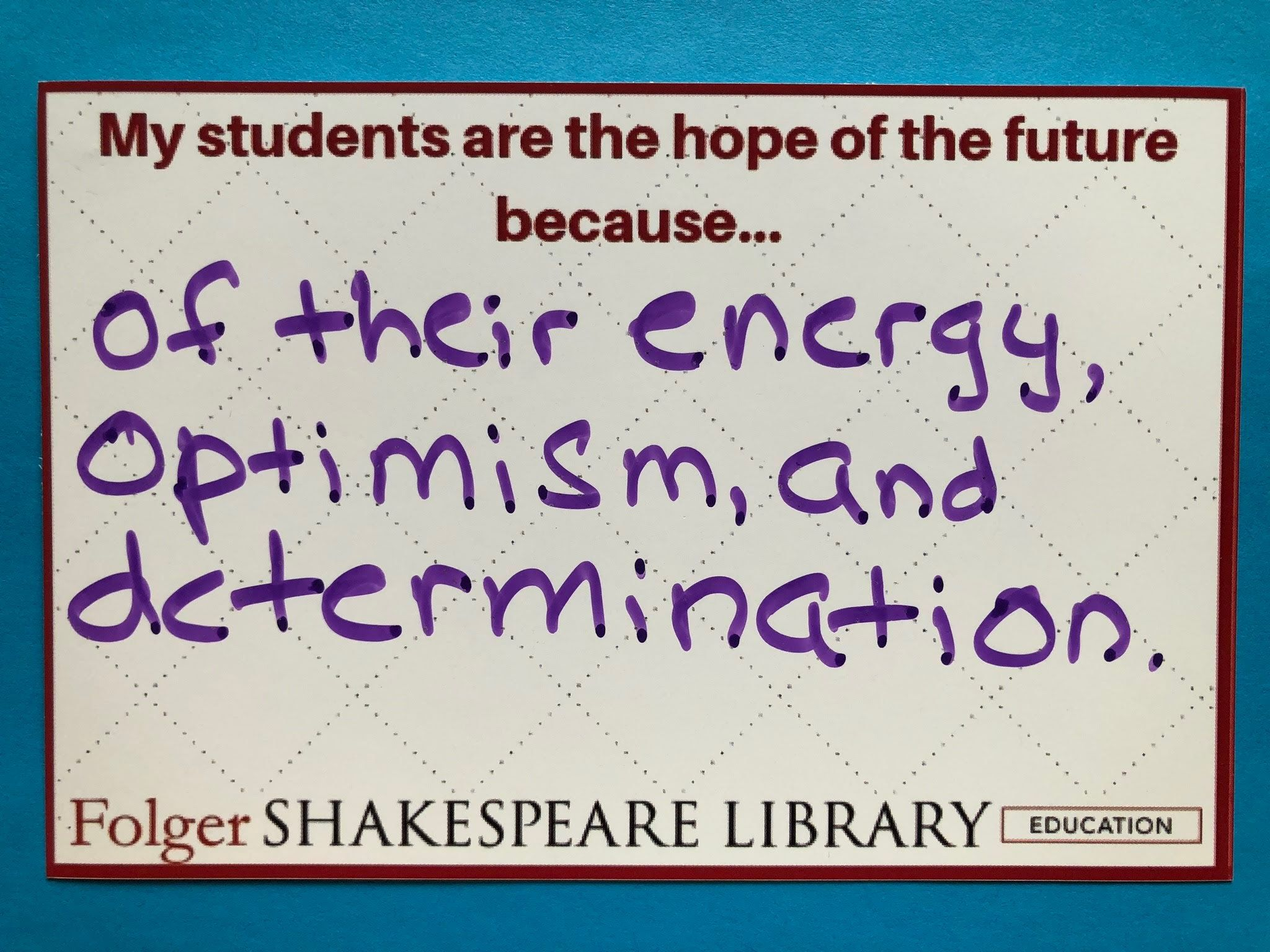 We Asked Teacher At Ncte18 To Tell U Why Their Student Are The Hope Of Future Energy Optimism And Det Teaching Shakespeare Sonnet 27 Analysis