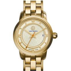Women's Tory Burch 'Tory' Small Round Bracelet Watch, 28Mm