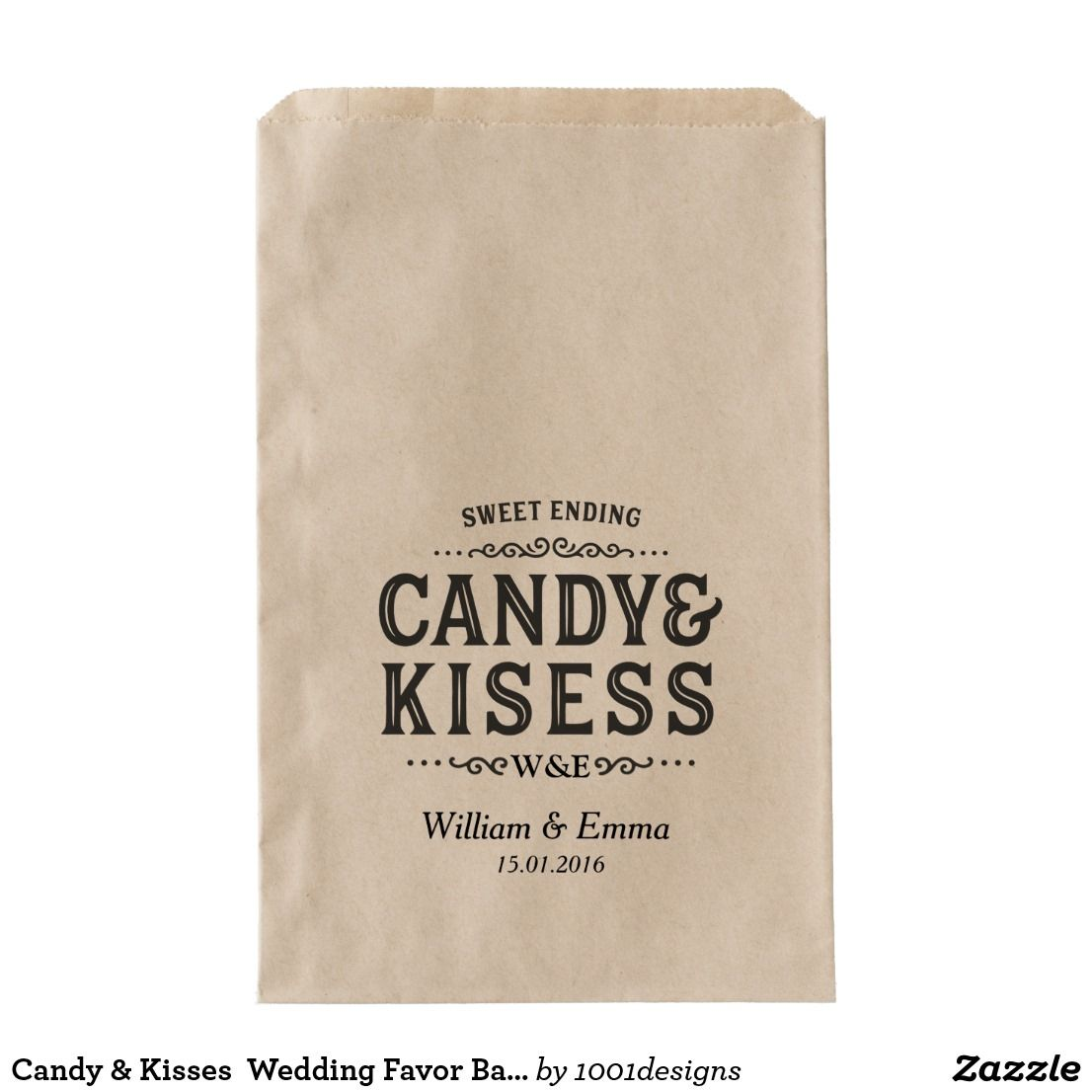Candy & Kisses Wedding Favor Bags Cookie Donuts | Favor bags ...