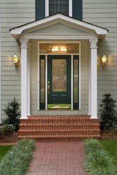 A Portico Is A Porch Or Overhang With A Roof Supported By Columns Leading  To The. Entrance DoorsDoor ...