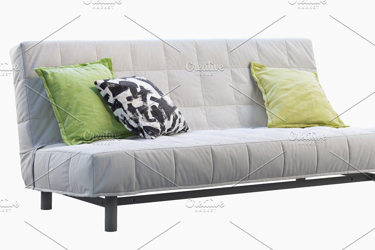 Ikea Beddinge Sofa Bed 3d Model In 2020 Ikea Sofa Set Sofa Bed Dimensions Sofa Set