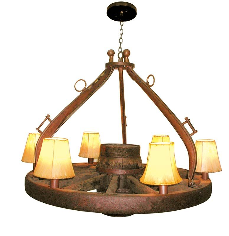 Wagon Wheel Rustic Chandelier Western Decor Pendant Light: Furniture Made With Horse Hanes