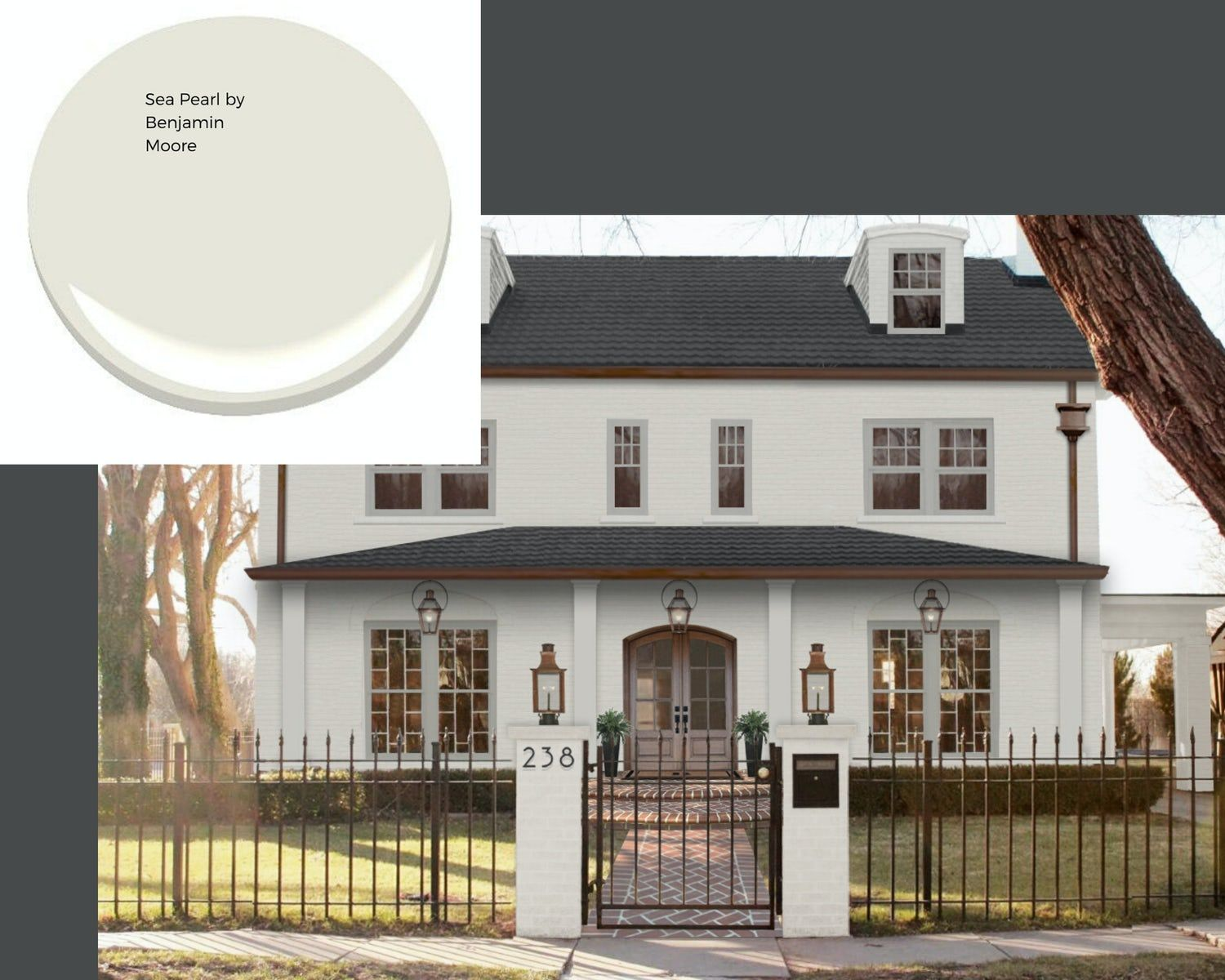 An Honest Review of Swiss Coffee Paint by Benjamin Moore | brick&batten