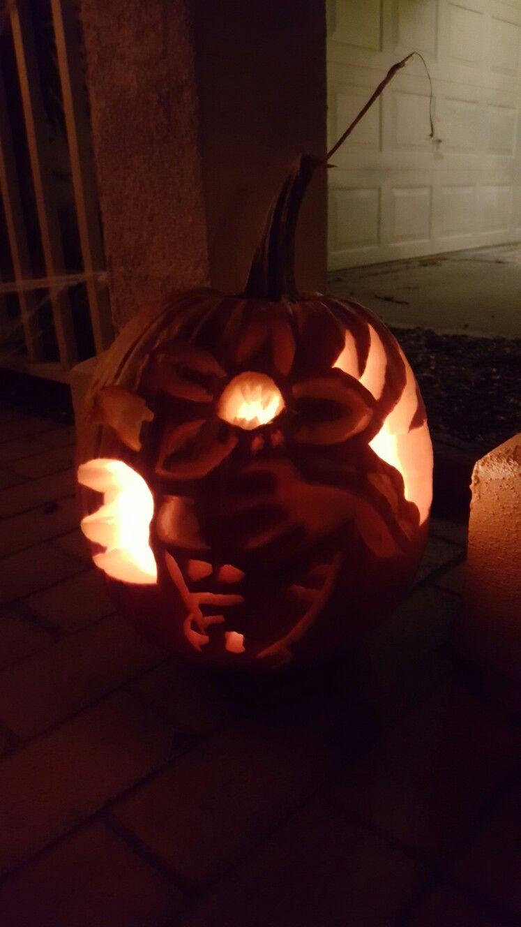 My Demogorgon Pumpkin Stranger Things Stranger Things Pumpkin