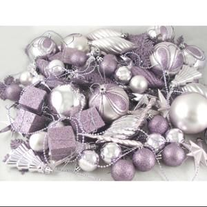 125 Piece Club Pack Of Shatterproof Champagne Gold Christmas Ornaments Walmart Com In 2020 Purple Christmas Decorations Purple Christmas Tree Decorations Purple Christmas