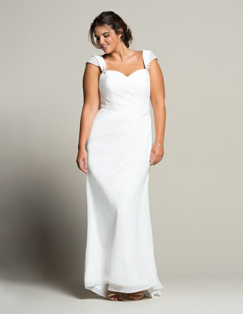 20 lovely and affordable wedding dresses for ladies with curves linzi jay chiffon sweetheart neckline bridal gown ombrellifo Image collections