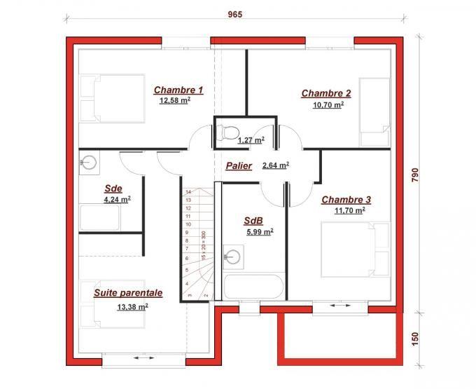 Cette maison moderne en R+1 aux volumes cubiques vous offre au rez