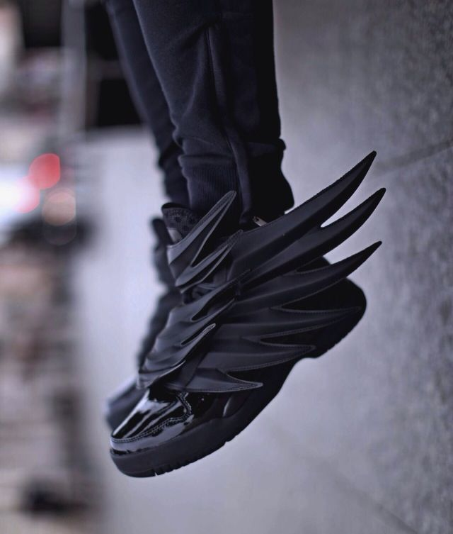 "reputable site da63d c3f9b Adidas x Jeremy Scott Wings 3.0 ""Dark Knight"