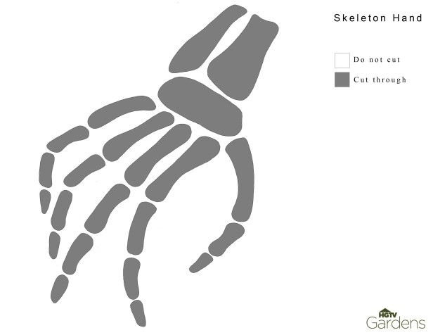 Skeleton hand pumpkin carving pattern diy pinterest