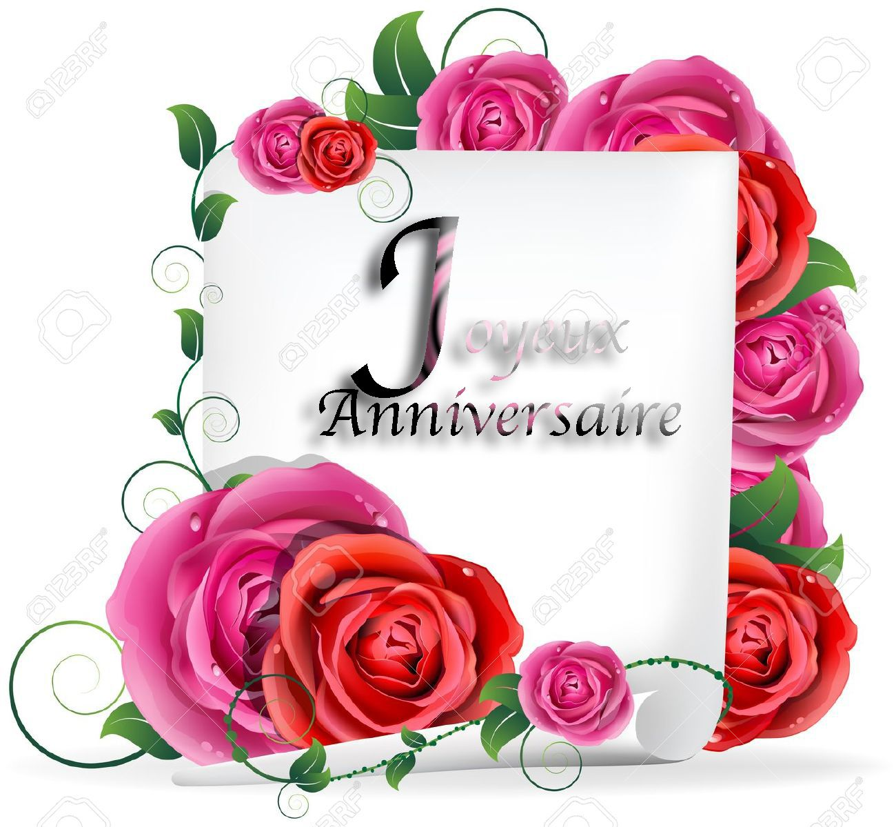 Carte anniversaire fleurs gratuite à imprimer