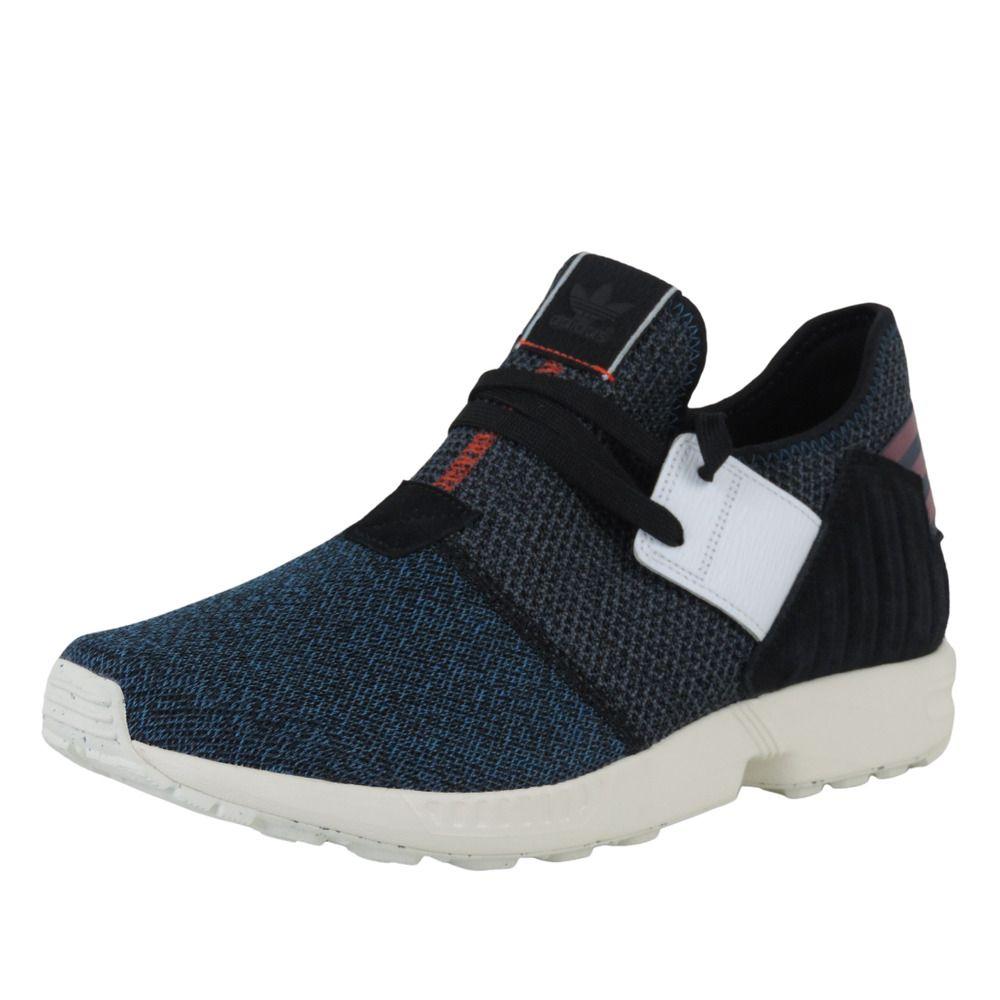 Adidas ZX Flux Plus AQ5398 Mens Shoes Black Textil Mesh Running ...