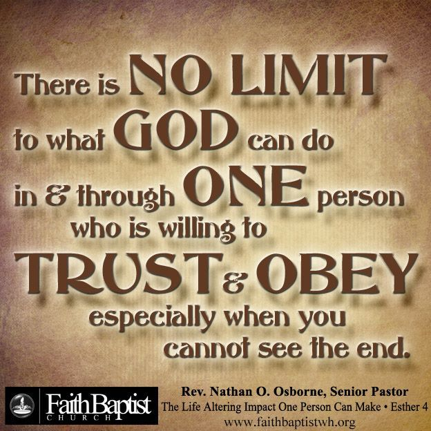 There is no limit to what God can do in & through one person