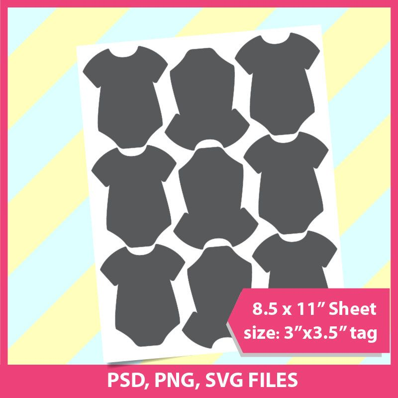 Instant Download, Onesie Template, PSD, PNG and SVG Formats, 85 - onesie template