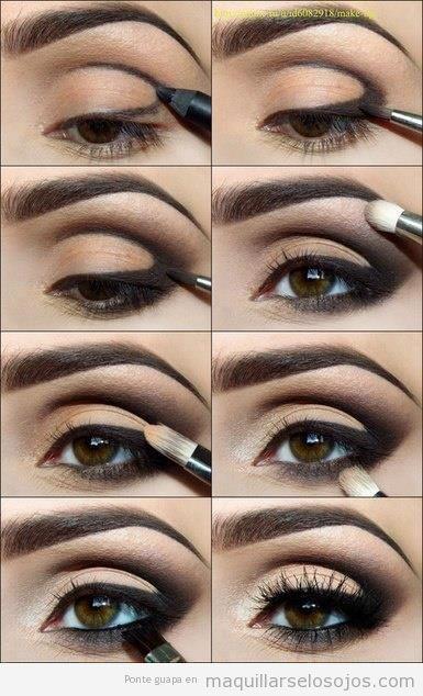 Como Pintar Los Ojos Ahumados Paso A Paso Maquillaje - Paso-a-paso-como-pintarse-los-ojos