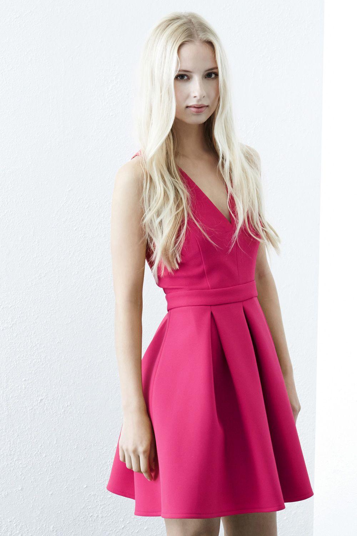 Dresses   Pink BONDED CROSS BACK PROM DRESS   Warehouse   Love ...