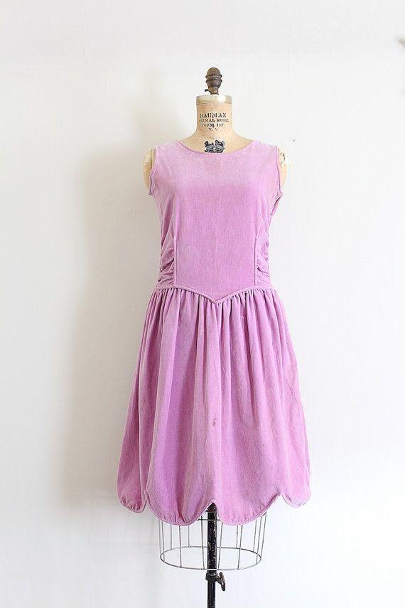 Vintage 1920s Dress 20s Scalloped
