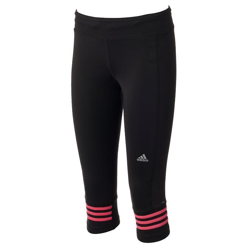8cb5b903d8e Women's Adidas Response climalite Capri Running Tights, Size: XS, Black
