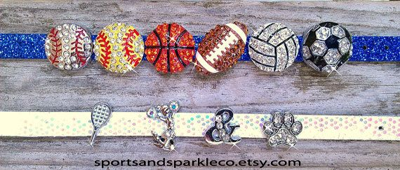 ADD ONS  Sporty Rhinestone Sports Charms by SportsandSparkleCo, $4.00