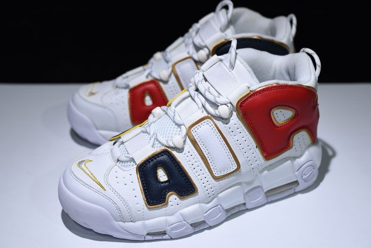 "the best attitude c6f79 510f5 Nike Air More Uptempo ""USA Champion"" color sneakers use of high-quality  leather"