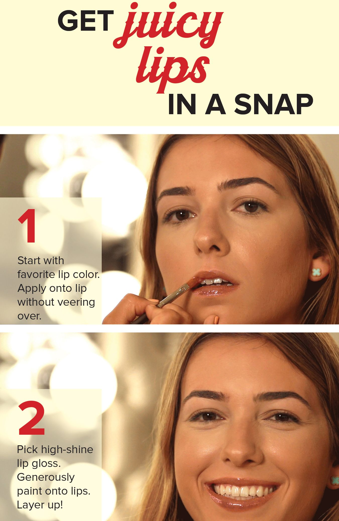 Get the perfect pout in just two steps with this beauty trick