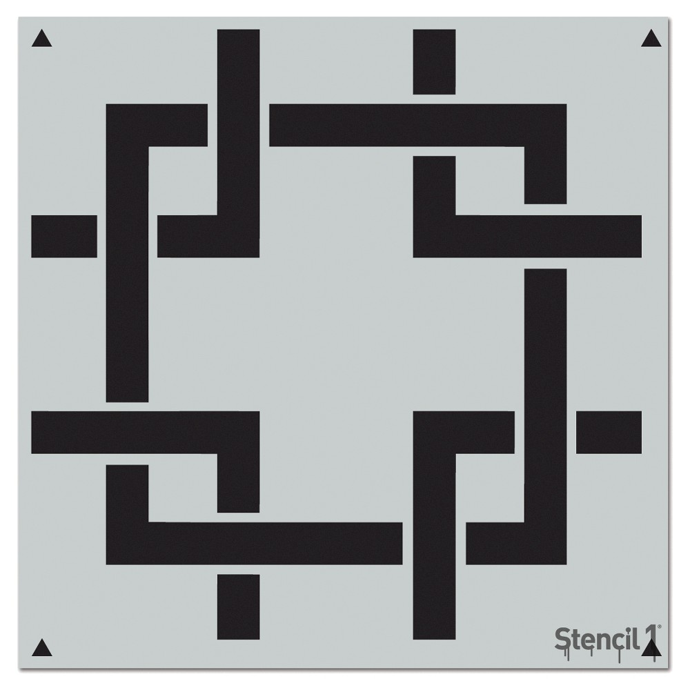 "Stencil1 Square Lattice Repeating - Wall Stencil 11"" x 11"""