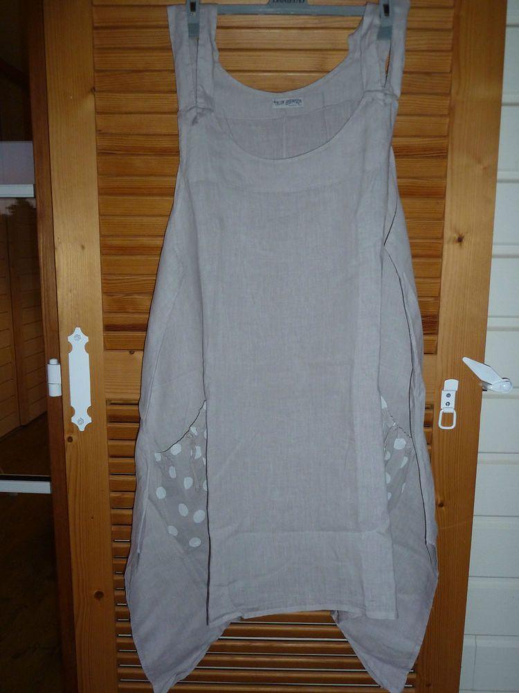 robe tunique lin talia benson js millenium italy t 46 48 lagenlook couture vetements. Black Bedroom Furniture Sets. Home Design Ideas