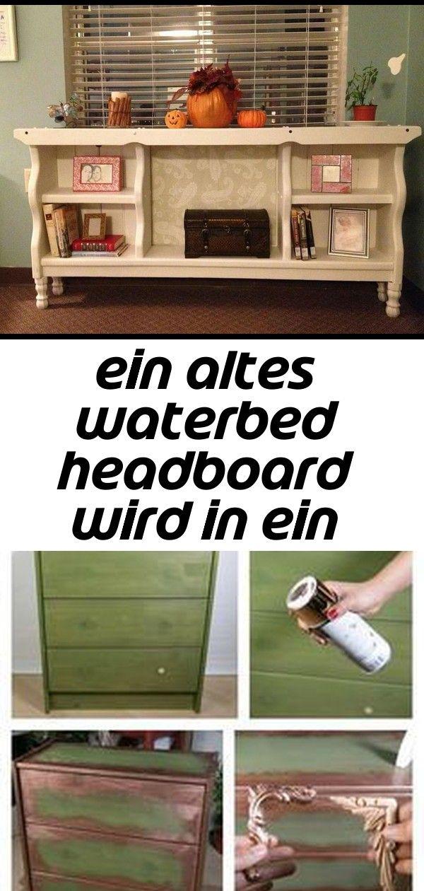 Ein altes waterbed headboard wird in ein bücherregal eingeschaltet  dies ist so eine nette idee 33 EIN ALTES WATERBED HEADBOARD WIRD IN EIN BÜCHERREGAL EINGESCH...