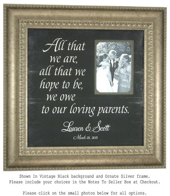 PARENTS Personalized Wedding Gift Sign by PhotoFrameOriginals ...