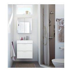 € 159 IKEA - STORJORM, Spiegelkast 2 deur/inb verlichting, 60x21x64 ...