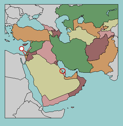 Test your geography knowledge  Middle East countries  Lizard